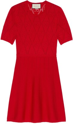 Gucci Wool GG perforated dress