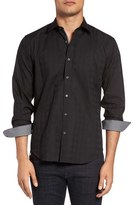 Bugatchi Shaped Fit Tonal Plaid Sport Shirt