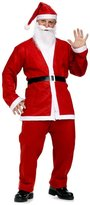 Vogholic Men's Christmas Santa Claus Costume Suit 5 Pieces Red One