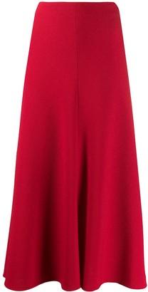 Talbot Runhof A-line midi skirt