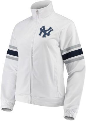 New York Yankees Women's G-III 4Her by Carl Banks White Game Score Full-Zip Track Jacket