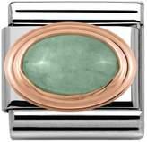 Nomination 9ct Rose Gold Green Aventurine Classic Charm 430501/23
