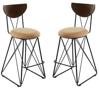 "Brayden Studioâ® Bipasha Bar & Counter Stool Brayden StudioA Upholstery: Gold, Seat Height: Bar Stool (29"" Seat Height)"