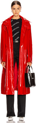 Balenciaga Fitted Trench in Masai Red | FWRD