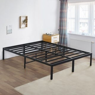 Overstock Sleeplanner 16 Inch Metal Platform Bed Frame Full