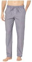 Hanro Night and Day Woven Lounge Pants (Grey Check) Men's Pajama