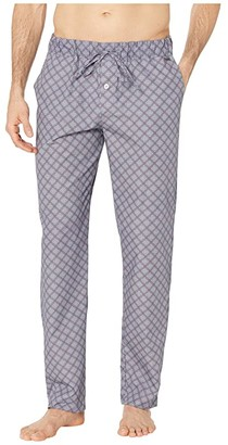 Hanro Night and Day Woven Lounge Pants (Grey Check) Men's Pajama