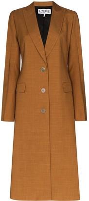 Loewe Peak Lapel Single Breasted Coat