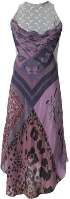 Marine Serre Patchwork Silk Midi Dress