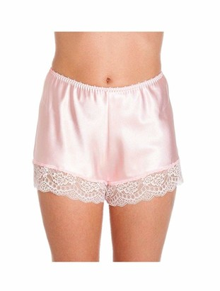 BBLingerie Ladies Bridal English Made Ladies Satin French Knicker Briefs Plus Size 10 12 14 16 18 20 22 24 26 28 UK (White 10/12)