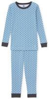 Petit Bateau Boys star print pajamas