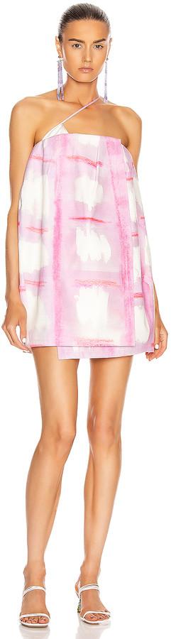Jacquemus La Robe Soleil in Print Pink Checked | FWRD