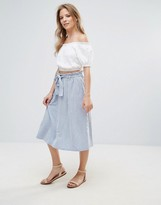 Vero Moda Pleated Midi Skirt