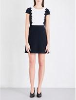 Claudie Pierlot Rica lace-panel crepe dress