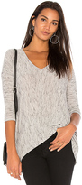 Bobi Coastline Heather Long Sleeve Tee in Gray. - size L (also in M,S,XS)