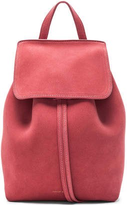 Mansur Gavriel Mini Backpack in Blush Suede | FWRD
