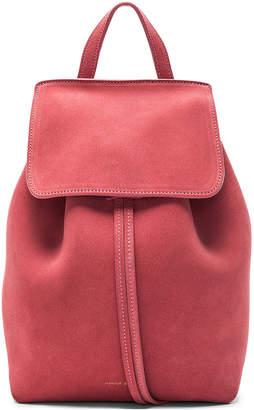 Mansur Gavriel Mini Backpack in Blush Suede   FWRD