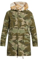 Mr & Mrs Italy Fur-lined Camouflage-print Canvas Parka