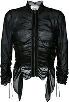 3.1 Phillip Lim ruched sheer jacket - women - Silk - 0