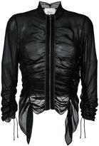 3.1 Phillip Lim ruched sheer jacket - women - Silk - 6