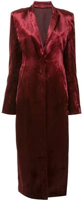 Ann Demeulemeester Satin Longline Coat