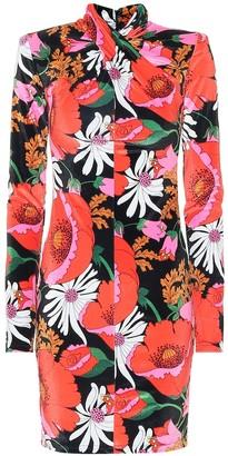 Richard Quinn Floral velour minidress