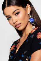 boohoo Leah Colour Pop Double Hoop Earrings