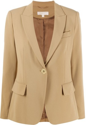 MICHAEL Michael Kors Peak Lapel Single-Breasted Blazer