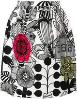Junya Watanabe cartoon print skirt