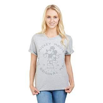 Disney Women's The Original Mouse T-Shirt (Heather Grey Hgy), (Size:Medium)