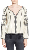 Pam & Gela Embroidered Peasant Blouse