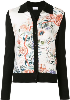 Salvatore Ferragamo Floral Feather Print Cardigan