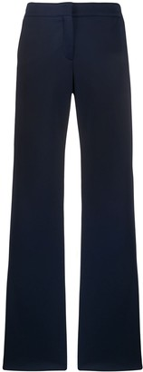 Akris Punto Side Stripe Wide-Leg Trousers