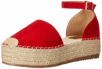 Yoki SUE Women's Raised Platform Espadrille Wedge Sandal