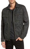 John Varvatos Men's Zip Military Jacket