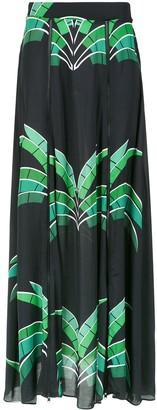 AMIR SLAMA Tropical Print Maxi Skirt