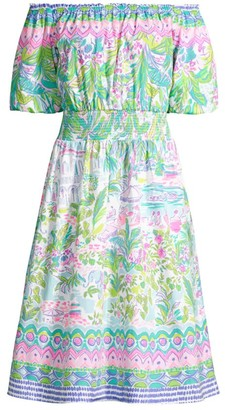 Lilly Pulitzer Camille Off-The-Shoulder Floral Dress