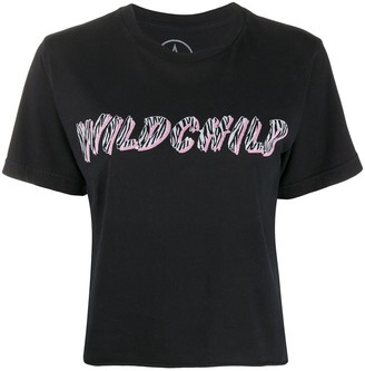 Local Authority Wild Child print cropped T-shirt