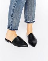 Vagabond Katlin Black Leather Flat Mules