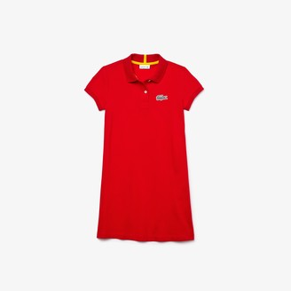 Lacoste Girls x National Geographic Cotton Pique Polo Shirt Dress