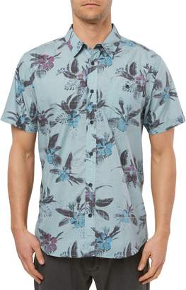 O'Neill Fiiore Floral Print Short Sleeve Button-Up Shirt