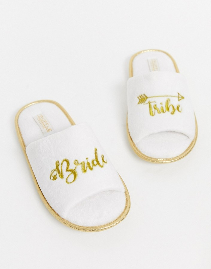 Truffle Collection bride party slippers