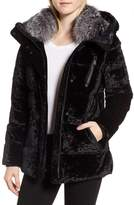 Andrew Marc Hooded Down Jacket with Genuine Fox Fur Trim