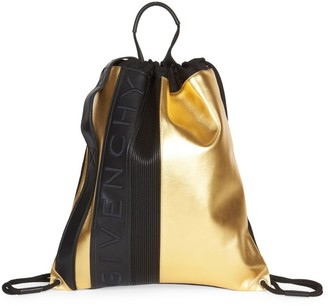 Givenchy MC3 Two-Tone Leather Drawstring Backpack