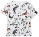 Stella McCartney arlo roll up print t-shirt
