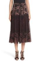 Fuzzi Women's Tulle Midi Skirt