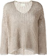 Simon Miller wide knit scoop neck jumper - women - Silk - 0