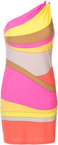 Trina Turk striped one shoulder dress - women - Polyester/Spandex/Elastane - S