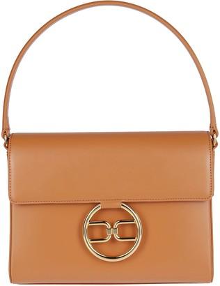 Elisabetta Franchi Logo Pendant Medium Shoulder Bag