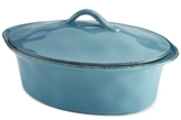 Rachael Ray Cucina Stoneware 3.5 Qt. Oval Covered Casserole